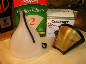 A funnel and some filters. Yeah it ain't that hard.